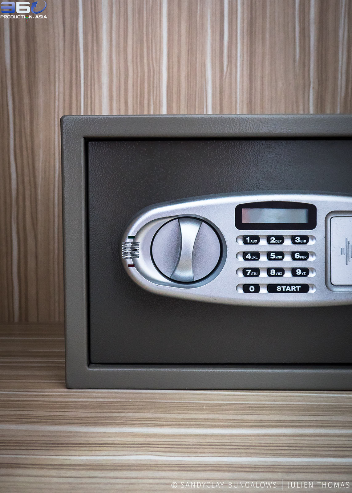 Electric small safe in the rooms for rent.