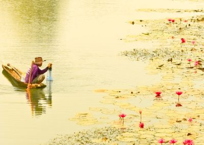 fishing-river-local-boat-water-lilies