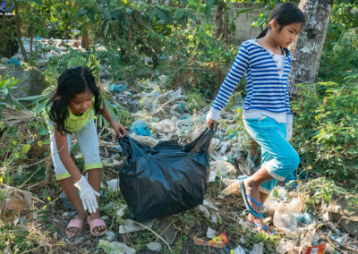 children-waste-plastic-discard-collection