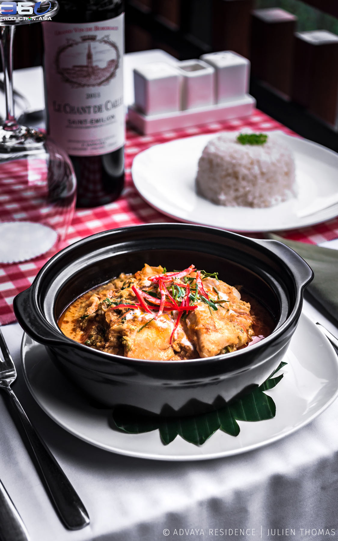 Lok Lak/Traditional Cambodian dish available in the Hotel restaurant.