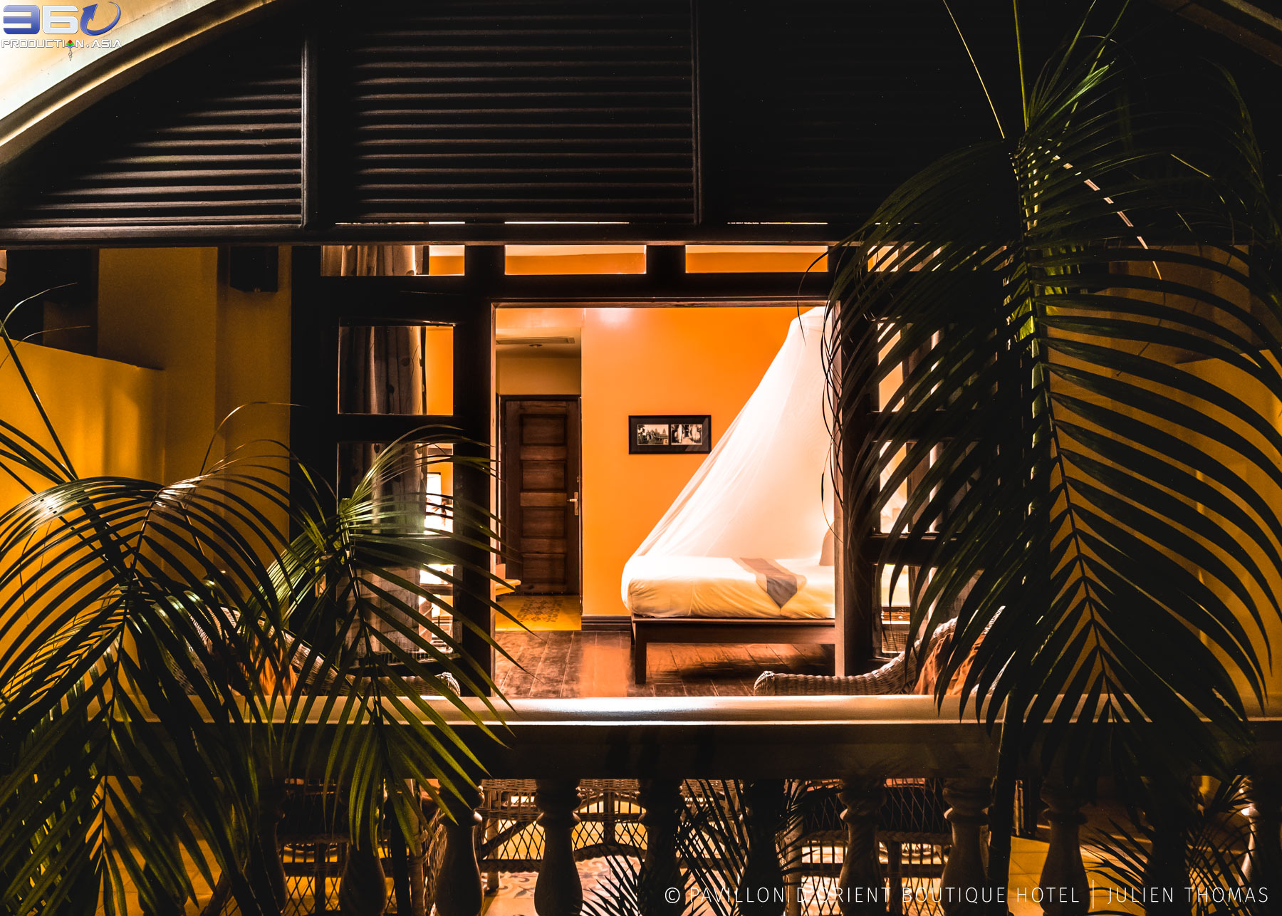 Relaxing double room with private balcony in Pavillon d'Orient Hotel Boutique, Siem Reap - Cambodia.