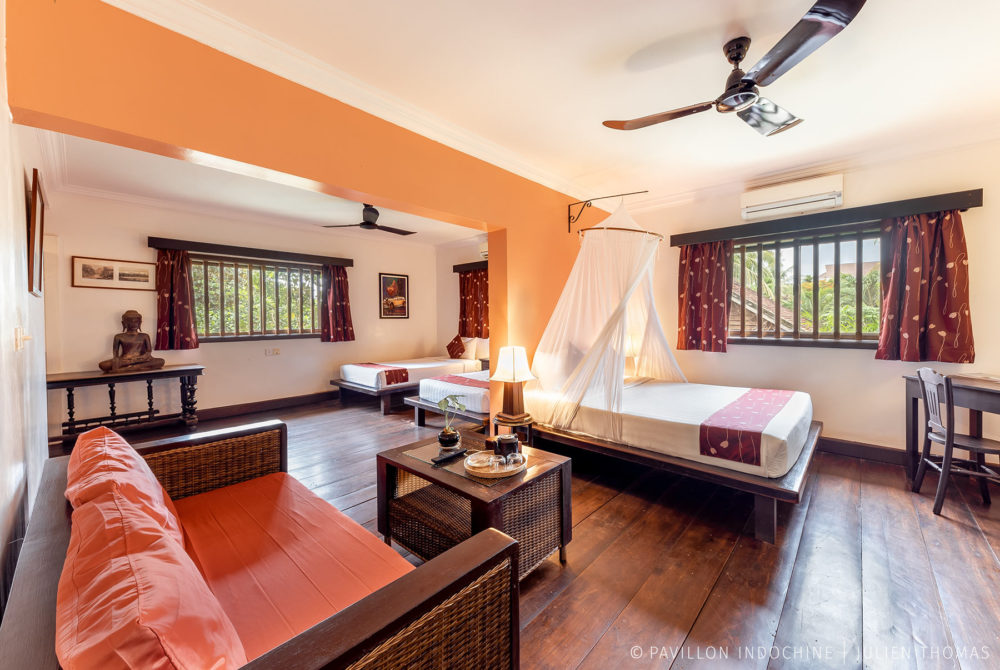 Familly rooom in Pavillon Indochine, Siem Reap - Cambodia.